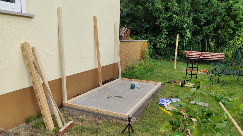 Holzfundament erstellen